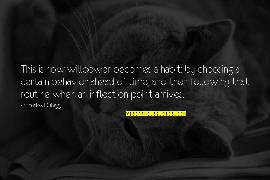 Willpower Quotes By Charles Duhigg: This is how willpower becomes a habit: by