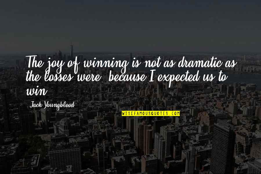 Win And Losses Quotes By Jack Youngblood: The joy of winning is not as dramatic