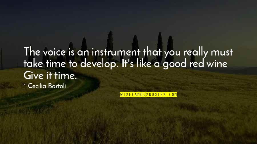 Wine And Time Quotes By Cecilia Bartoli: The voice is an instrument that you really