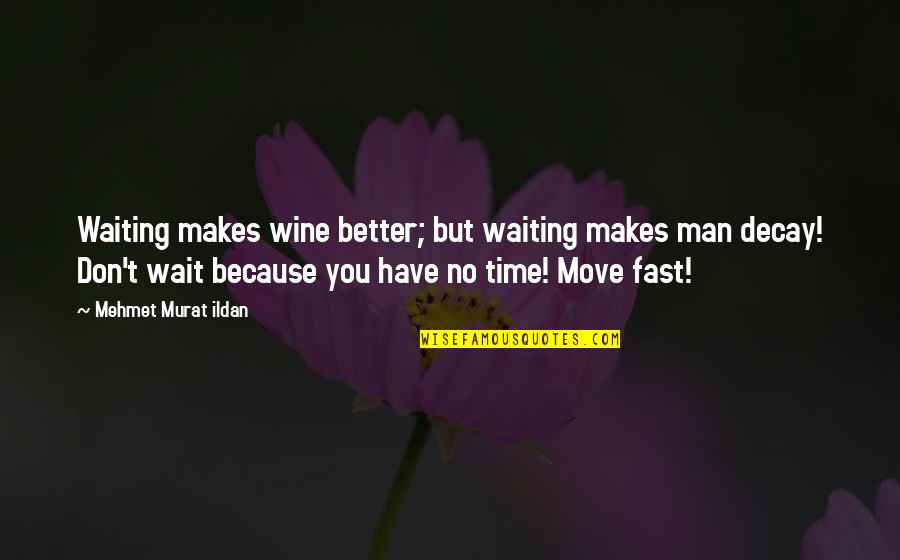 Wine And Time Quotes By Mehmet Murat Ildan: Waiting makes wine better; but waiting makes man