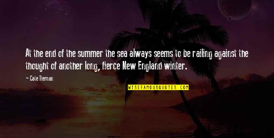 Winter's End Quotes By Cate Tiernan: At the end of the summer the sea