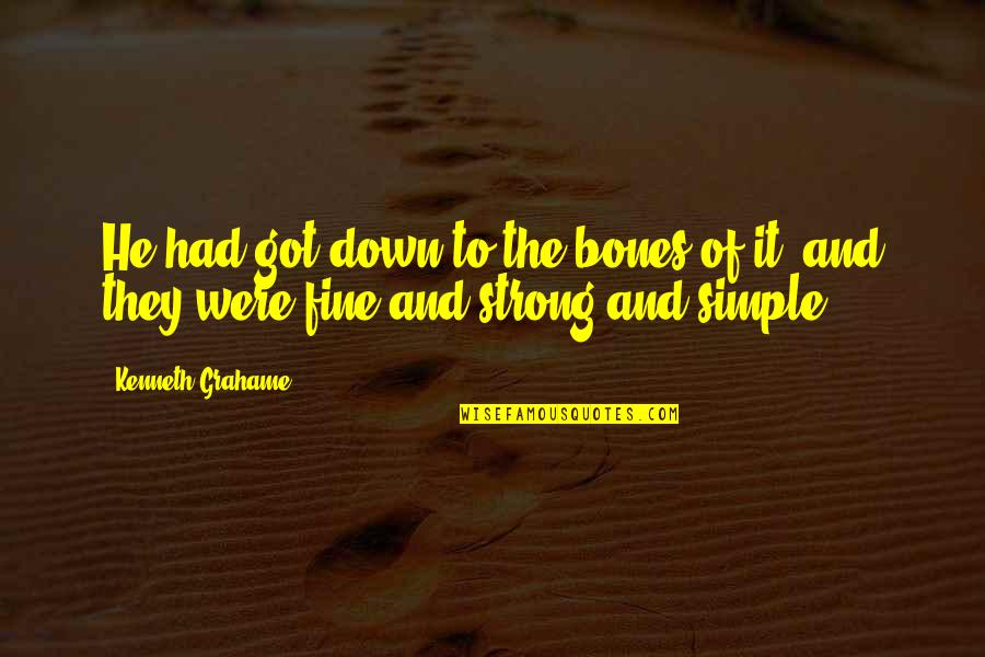 Winter's Tale Film Quotes By Kenneth Grahame: He had got down to the bones of