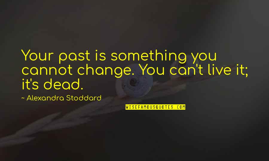 Wipers Times Quotes By Alexandra Stoddard: Your past is something you cannot change. You