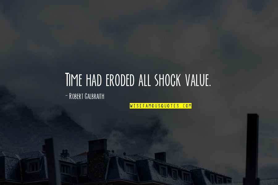 Wiresand Quotes By Robert Galbraith: Time had eroded all shock value.