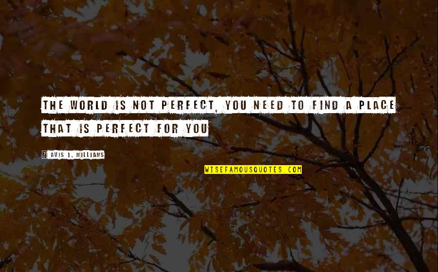 Wisdom And Living Quotes By Avis J. Williams: the world is not perfect, you need to