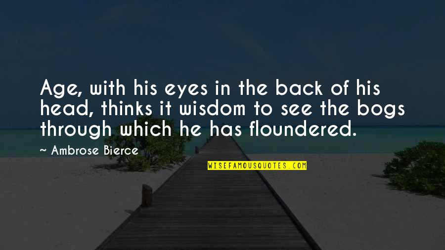 Wisdom With Age Quotes By Ambrose Bierce: Age, with his eyes in the back of