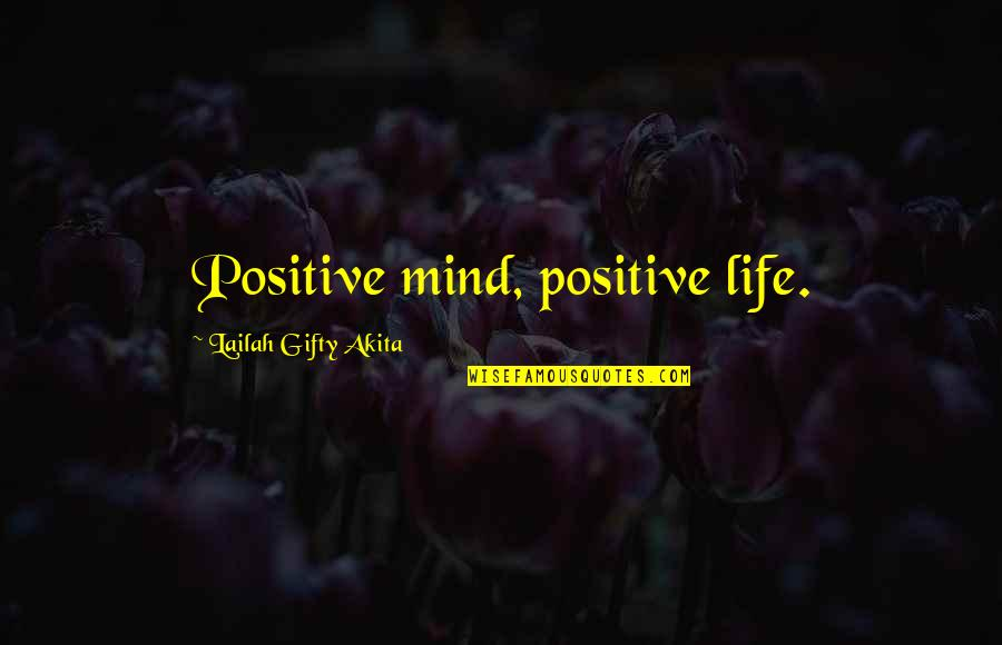 Wise Singapore Quotes By Lailah Gifty Akita: Positive mind, positive life.