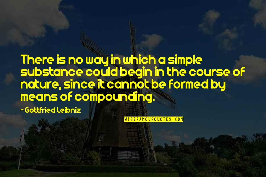 Wises Quotes By Gottfried Leibniz: There is no way in which a simple