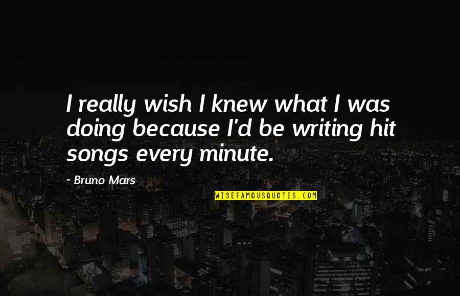 Wish I Knew Quotes By Bruno Mars: I really wish I knew what I was