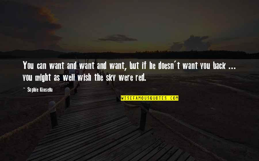 Wish You Were Back Quotes By Sophie Kinsella: You can want and want and want, but