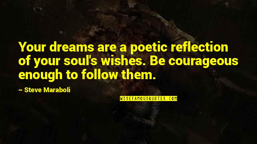 Wishes For Success Quotes By Steve Maraboli: Your dreams are a poetic reflection of your