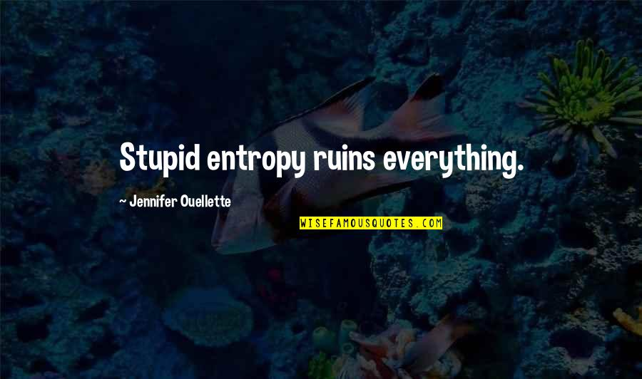 Within The Ruins Quotes By Jennifer Ouellette: Stupid entropy ruins everything.