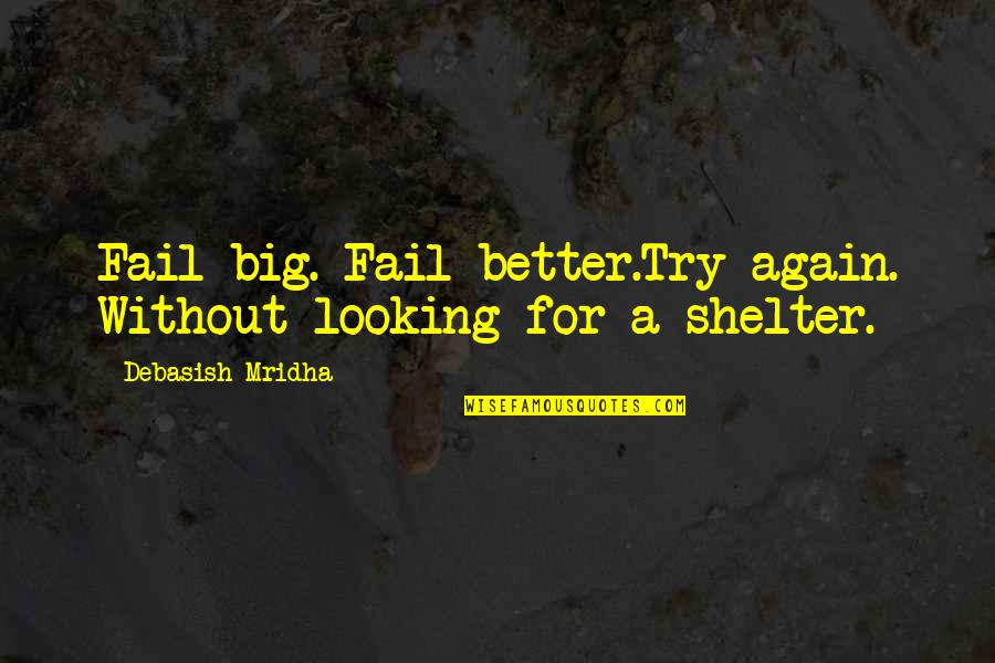 Without Hope Quotes By Debasish Mridha: Fail big. Fail better.Try again. Without looking for