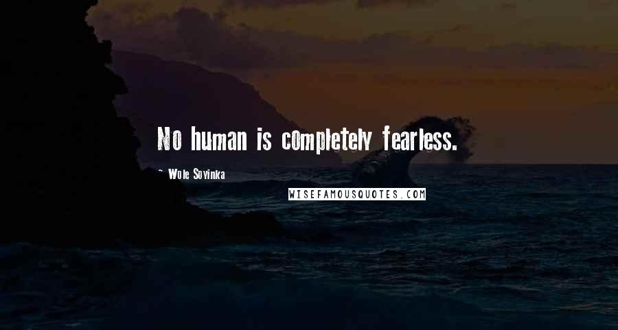 Wole Soyinka quotes: No human is completely fearless.