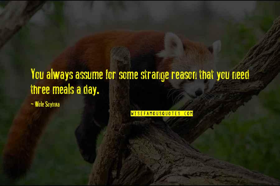 Wole Soyinka Quotes By Wole Soyinka: You always assume for some strange reason that