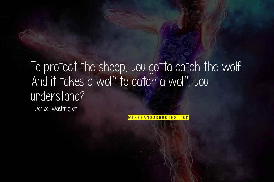 Wolf And Sheep Quotes By Denzel Washington: To protect the sheep, you gotta catch the