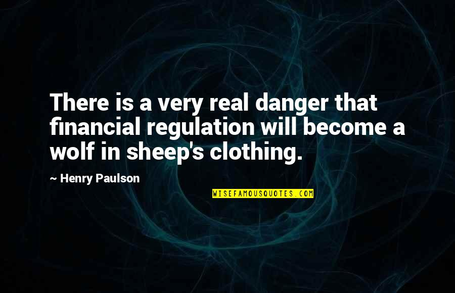 Wolf And Sheep Quotes By Henry Paulson: There is a very real danger that financial