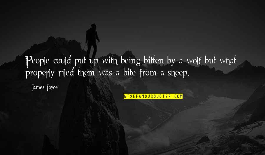 Wolf And Sheep Quotes By James Joyce: People could put up with being bitten by