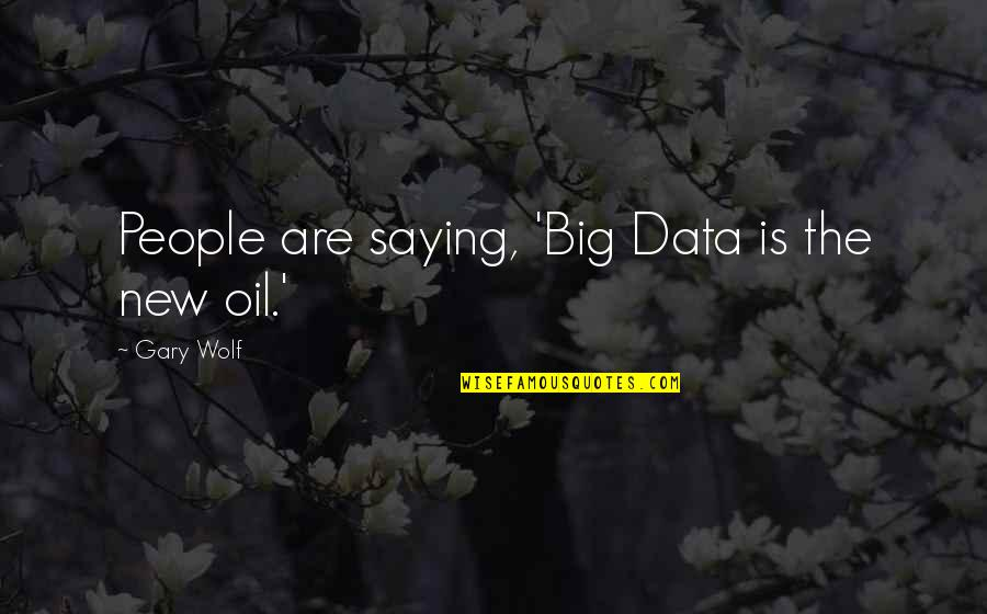 Wolf O'donnell Quotes By Gary Wolf: People are saying, 'Big Data is the new