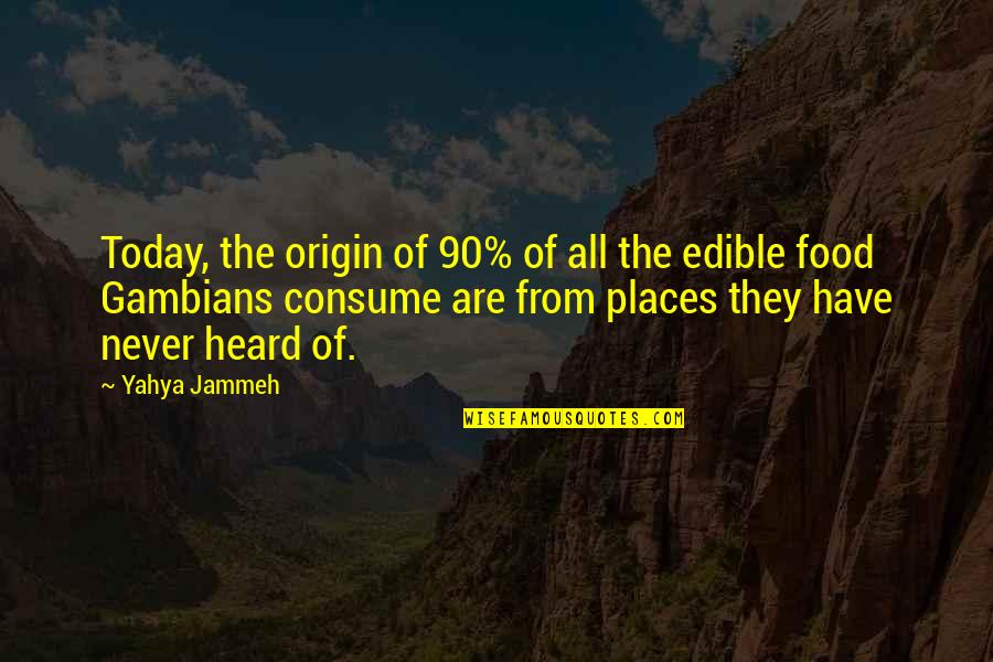 Wolves And Family Quotes By Yahya Jammeh: Today, the origin of 90% of all the