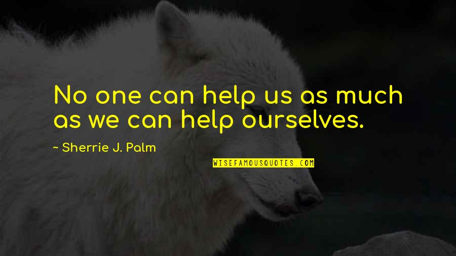 Women's Health Quotes By Sherrie J. Palm: No one can help us as much as