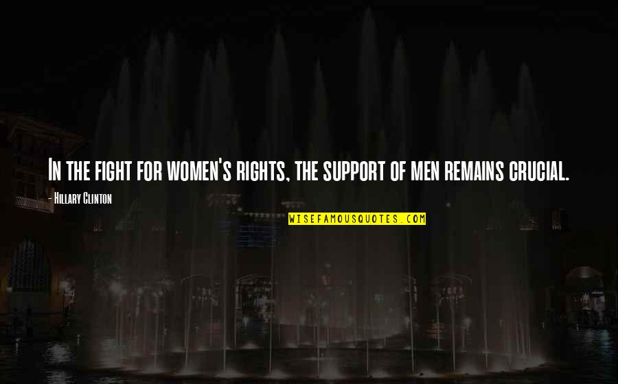 Women's Rights Quotes By Hillary Clinton: In the fight for women's rights, the support