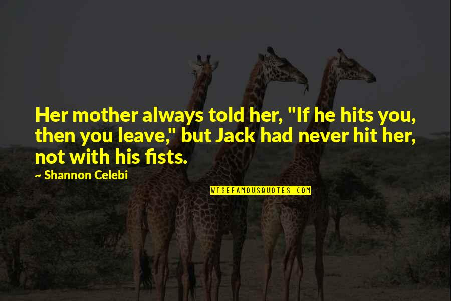 "Women's Rights Quotes By Shannon Celebi: Her mother always told her, ""If he hits"