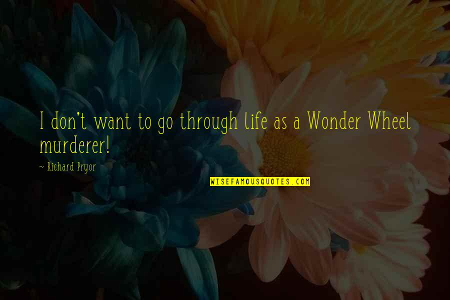 Wonder Wheel Quotes By Richard Pryor: I don't want to go through life as