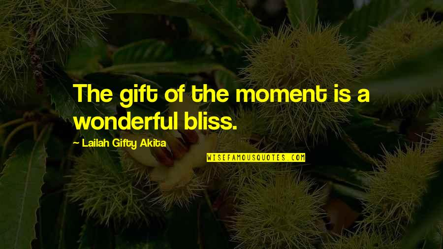 Wonderful Day Quotes By Lailah Gifty Akita: The gift of the moment is a wonderful
