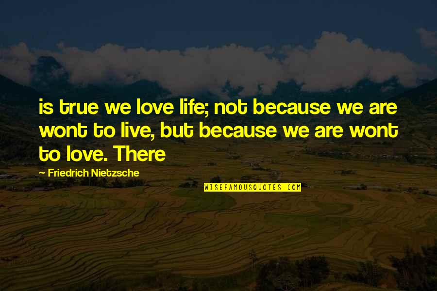 Wont't Quotes By Friedrich Nietzsche: is true we love life; not because we
