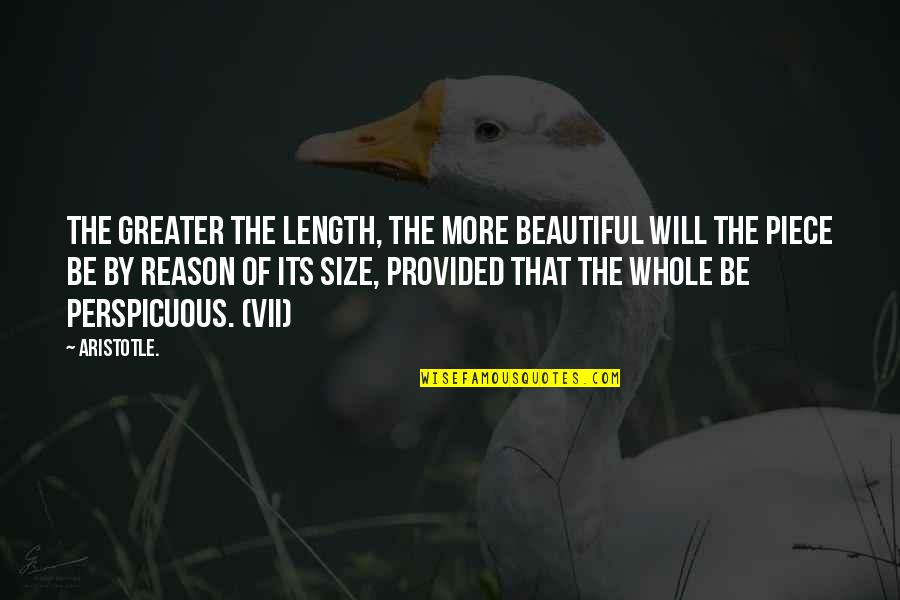 Wooden Wall Plaque Quotes By Aristotle.: The greater the length, the more beautiful will