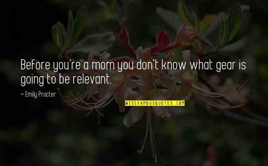 Wooden Wall Plaque Quotes By Emily Procter: Before you're a mom you don't know what