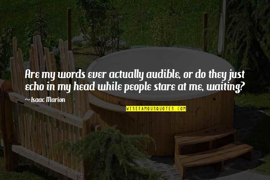 Words Are Just Quotes By Isaac Marion: Are my words ever actually audible, or do