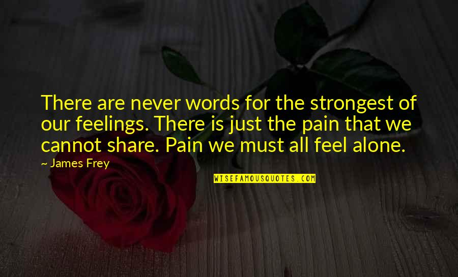 Words Are Just Quotes By James Frey: There are never words for the strongest of