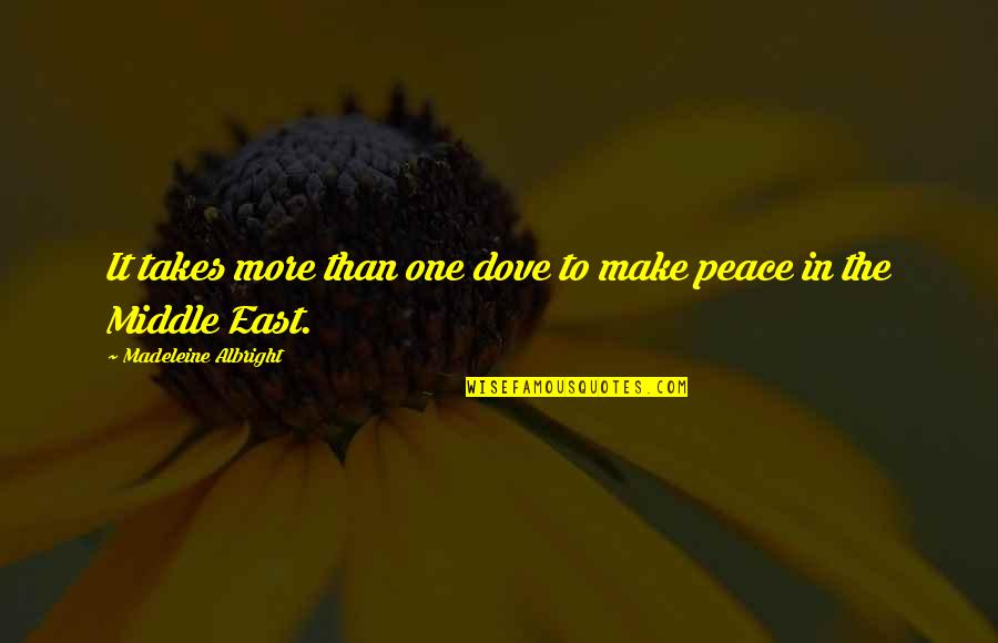 Words Cannot Express Love Quotes By Madeleine Albright: It takes more than one dove to make