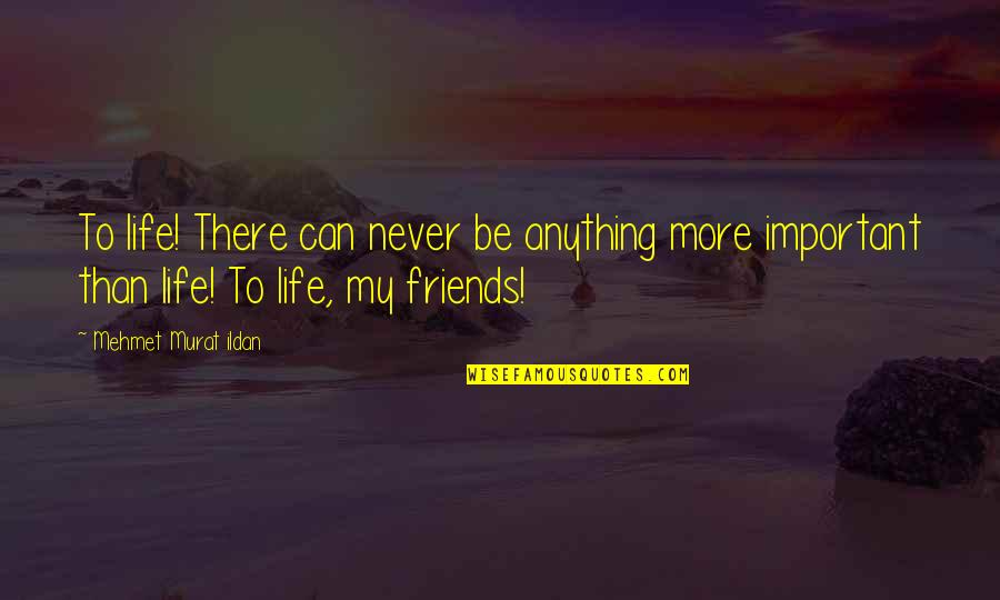 Words For Friends Quotes By Mehmet Murat Ildan: To life! There can never be anything more
