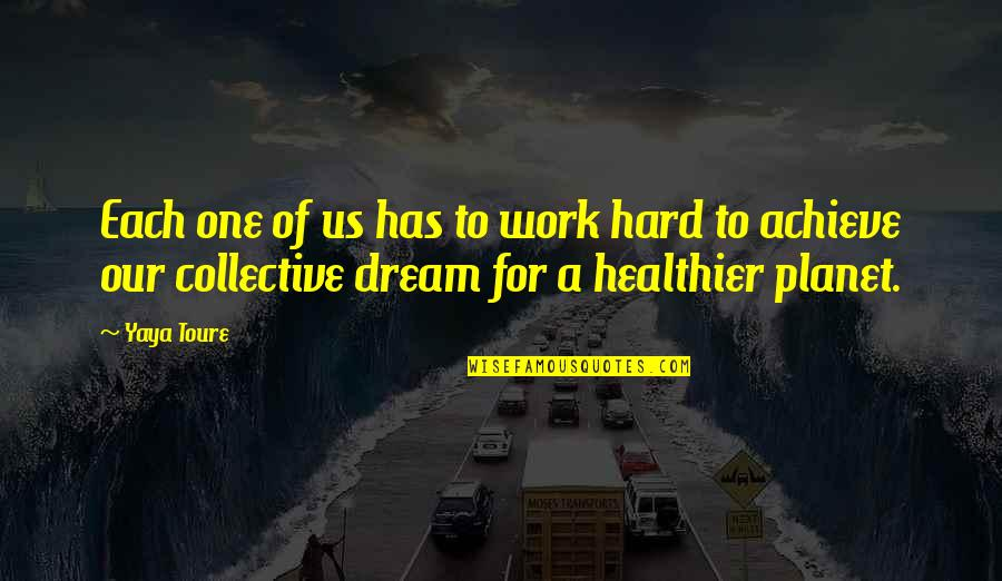 Work Hard For Your Dream Quotes By Yaya Toure: Each one of us has to work hard
