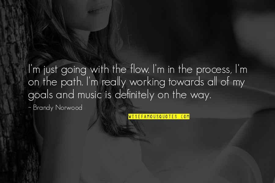 Working For Your Goals Quotes By Brandy Norwood: I'm just going with the flow. I'm in