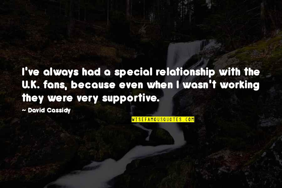 Working On A Relationship Quotes By David Cassidy: I've always had a special relationship with the