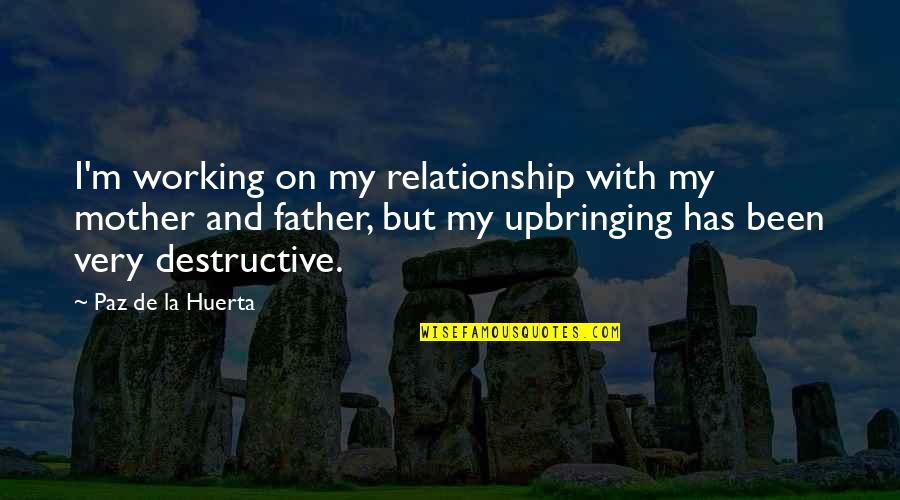 Working On A Relationship Quotes By Paz De La Huerta: I'm working on my relationship with my mother