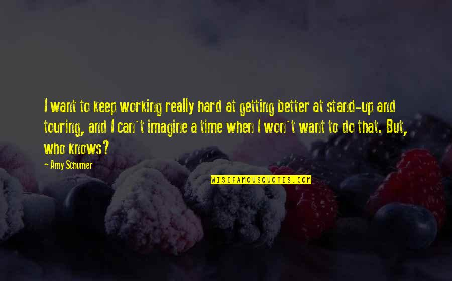 Working Too Hard Quotes By Amy Schumer: I want to keep working really hard at