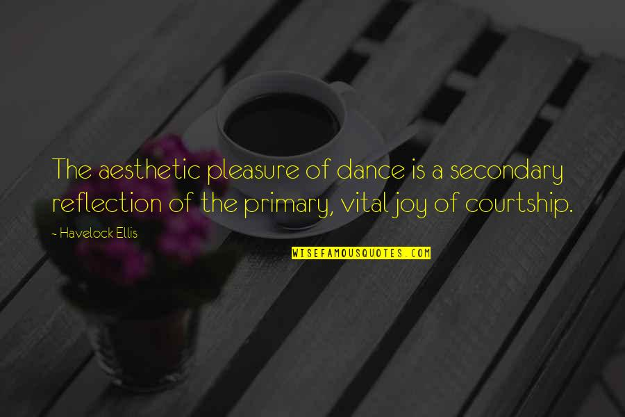Workout Therapy Quotes By Havelock Ellis: The aesthetic pleasure of dance is a secondary