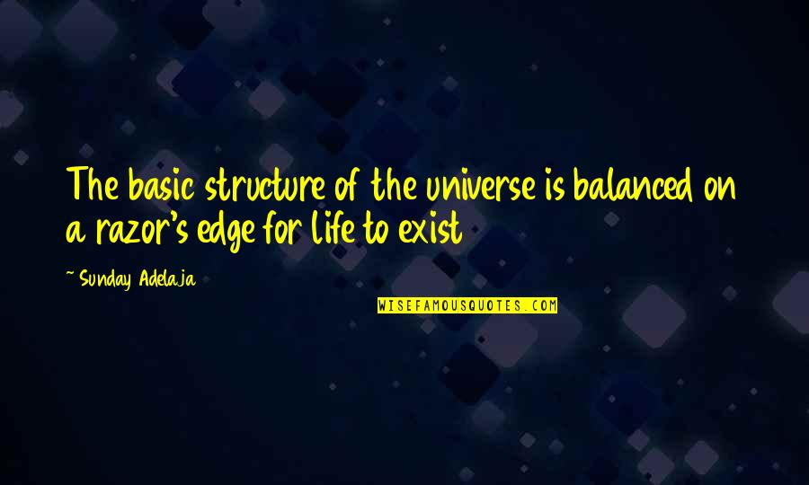 Workout Therapy Quotes By Sunday Adelaja: The basic structure of the universe is balanced