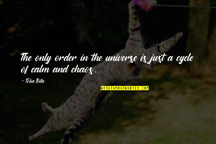 Workplace Sayings Quotes By Toba Beta: The only order in the universe is just