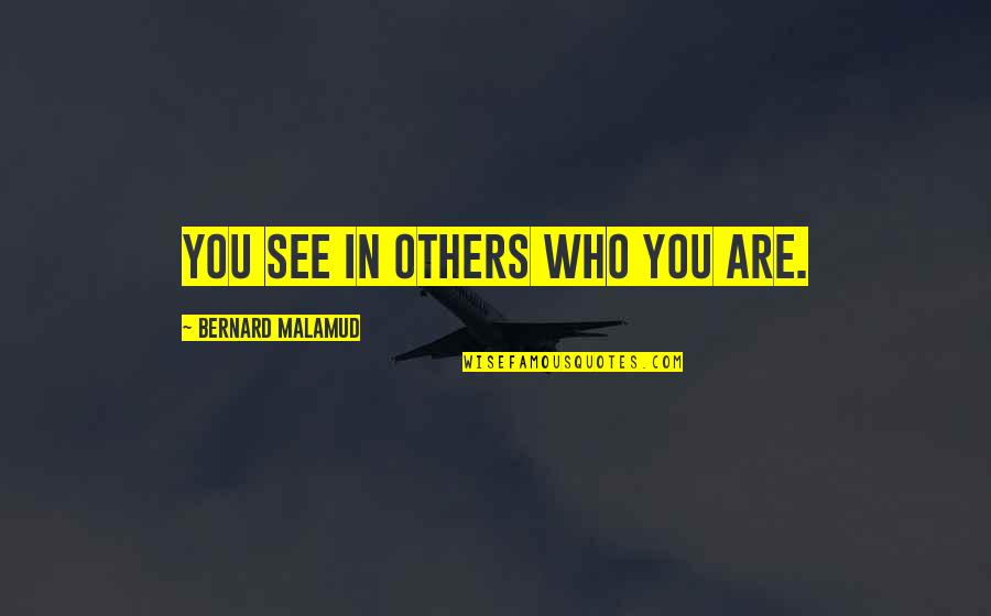 World At War German Quotes By Bernard Malamud: You see in others who you are.