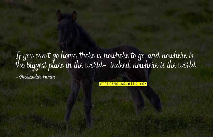 World Biggest Quotes By Aleksandar Hemon: If you can't go home, there is nowhere