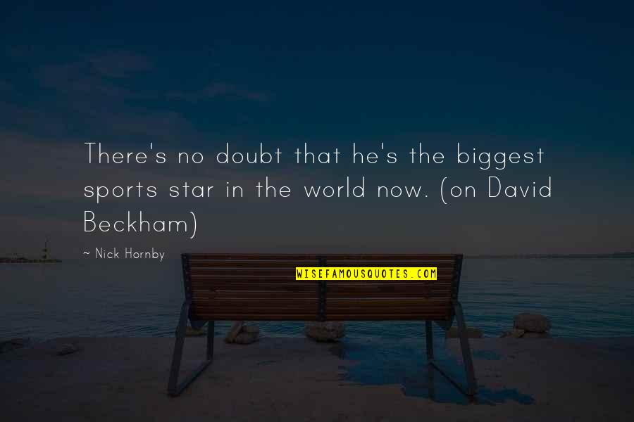 World Biggest Quotes By Nick Hornby: There's no doubt that he's the biggest sports