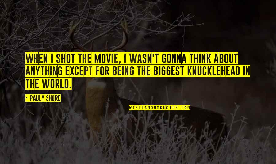 World Biggest Quotes By Pauly Shore: When I shot the movie, I wasn't gonna
