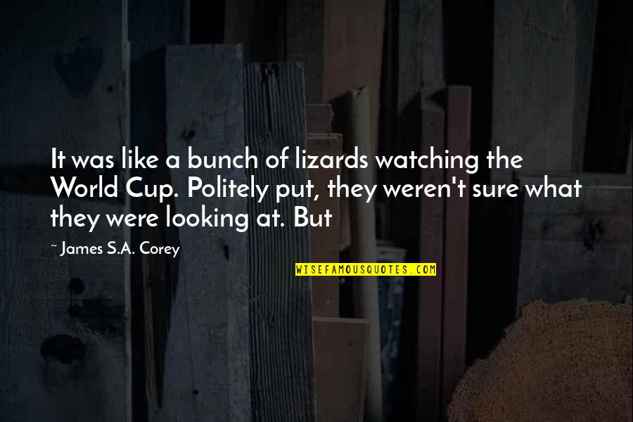 World Cup Quotes By James S.A. Corey: It was like a bunch of lizards watching