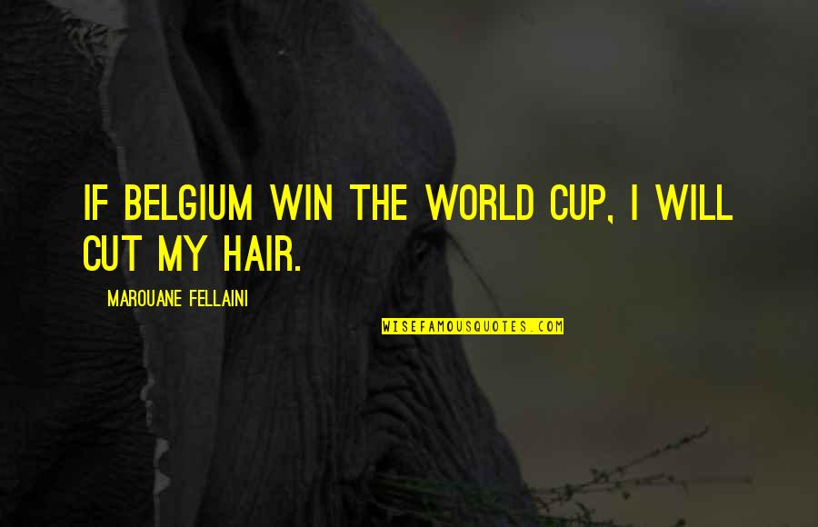World Cup Quotes By Marouane Fellaini: If Belgium win the World Cup, I will